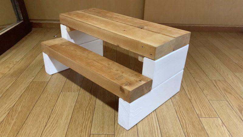 2×4で作る子ども用踏み台DIY