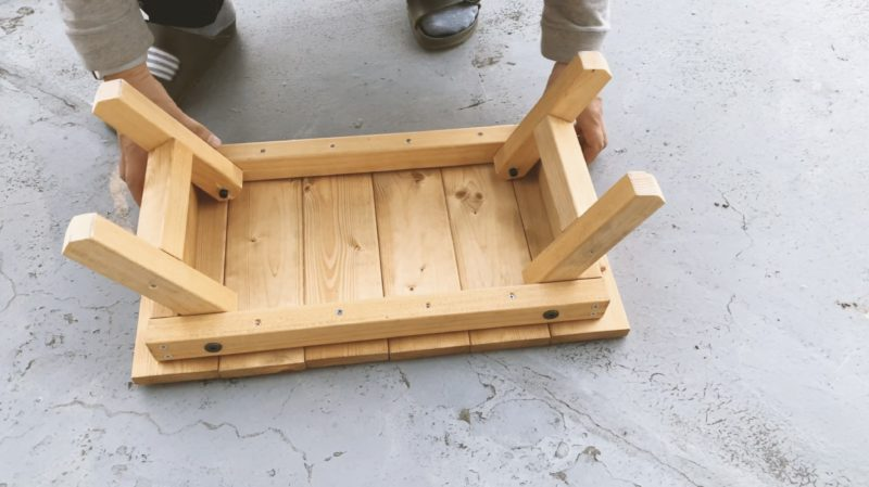 ソロキャンプテーブル自作